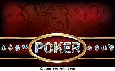 Poker invitation card, vector