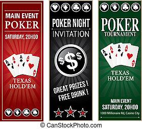 Poker invitation event vertical flyer