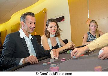 poker jouant, dans, les, casino