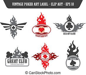 poker label sticker