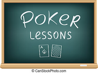 poker lessons in school - Drawing poker lessons by a chalk...