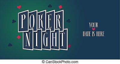 Poker night vector logo, icon