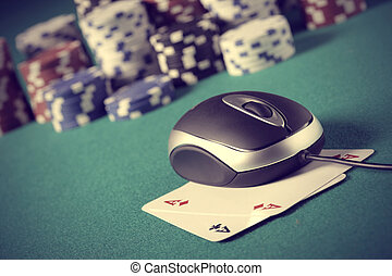 Poker on line concept