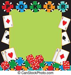 Poker party gambling invitation