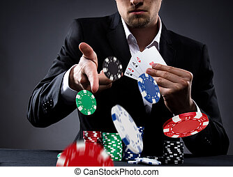Poker player - Portrait of a professional poker player