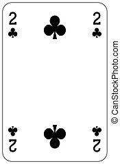 Poker playing card 2 club
