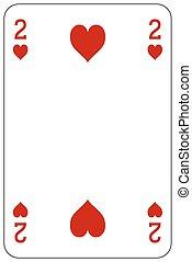 Poker playing card 2 heart