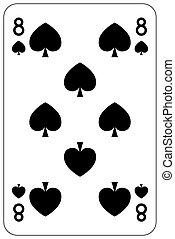 Poker playing card 8 spade