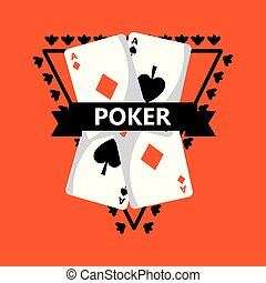 poker playing cards banner decoration classic