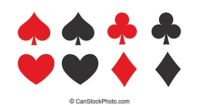 Poker playing cards shapes