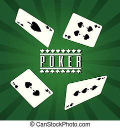 poker playing cards spade four gamble lucky