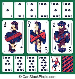 Poker Playing Cards Spade Suit  Set