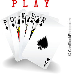 Poker Playing Cards Win Hand