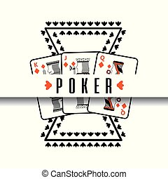 poker poster casino gamble risk cards