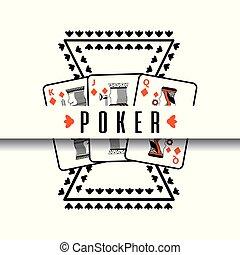 poker poster casino gamble risk cards