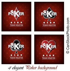 Poker poster vector background