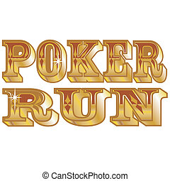 Poker run clip art for t-shirts or signs