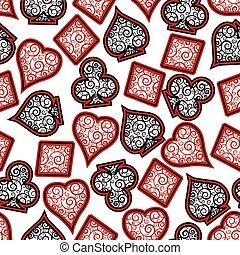 Poker seamless background, vector illustration