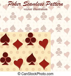 Poker seamless pattern, vector