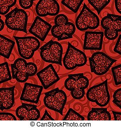 Poker seamless pattern, vector illustration