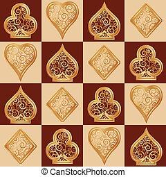 Poker seamless wallpaper, vector illustration