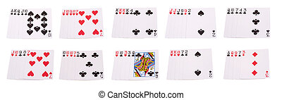 Poker set of cards combinations