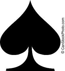 Poker sign spades