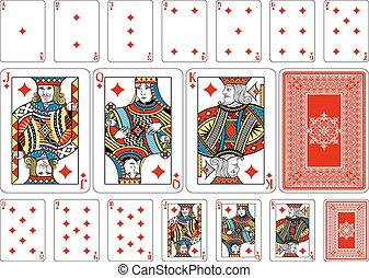 Poker size Diamond playing cards plus reverse - Cards from...