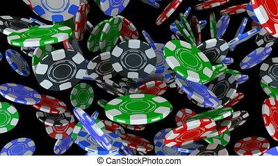 poker- späne, fallender