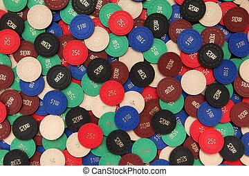 poker- späne, hintergrund
