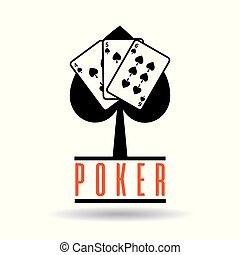 poker spade cards suit for gambling concepst