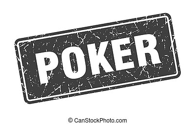 poker stamp. poker vintage black label. Sign