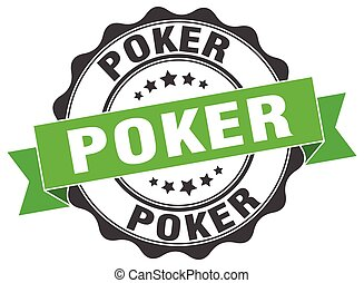 poker stamp. sign. seal