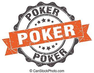 poker, stamp., signe., cachet