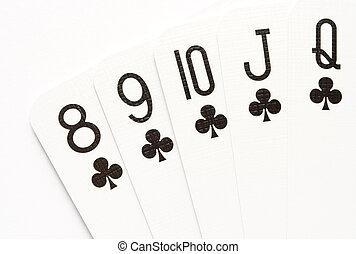 Poker - straight flush