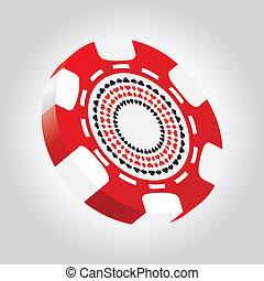 poker stukje, bijzondere , 3d