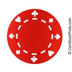 poker stukje, rood
