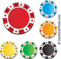 poker stukje, stellen