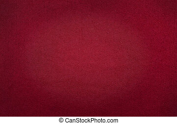 Poker table felt background in red color