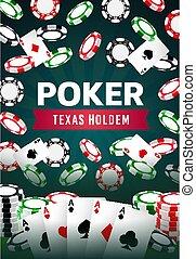 Poker Texas holdem gamble game, online casino