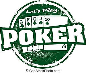 Poker Tournament Stamp