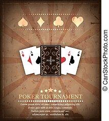 Poker tournament vector background