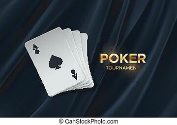 Poker tournament.
