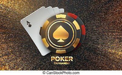 Casino banner concept.