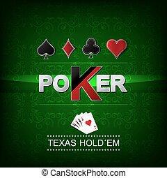 poker, vecteur, fond