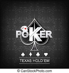 poker, vecteur, fond