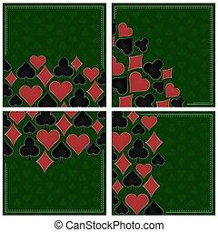 Poker vector background - set