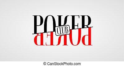 Poker vector logo, symbol
