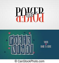 Poker vector logo, symbols collection