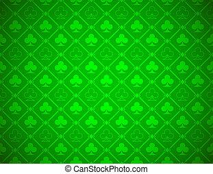 poker, vettore, sfondo verde